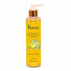 KAZIMA Breathe Bergamot & Vanilla Bath Shower Gel & Luxury Body Wash Cleanser (200ML) with Apricot & Lemon (Free From Parabens)