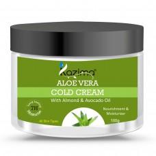 KAZIMA ALOE VERA COLD CREAM (100g) with Almond & Avocado Oil For Nourishment & Moisturizer Skin