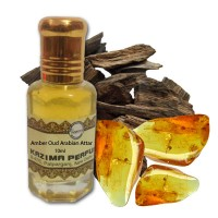 Amber Oud Arabian Attar - Pure Natural Undiluted (Non-Alcoholic)