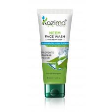 KAZIMA Neem Face Wash With Tea Tree & Tulsi For Anti Pollution, Anti Acne, Nourishes Skin + Pore Purifying Skin Defense (100 ML)