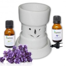 Ceramic Electric Aroma Diffuser with Free Lavender & Lemongrass Essential Oil 15ml