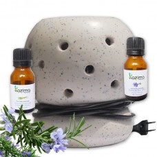 Ceramic Electric Aroma oil Diffuser with Free fragrance oil lemongrass & Lavender Essential oil 15ml