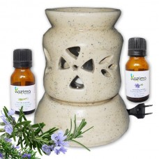 Ceramic Electric Aroma oil Diffuser Air Freshener with FREE Lemongrass & Lavender Essential oil 15ml