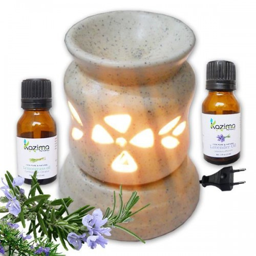 Ceramic electric aroma oil diffuser air freshener with for Aroma indian cuisine coupon