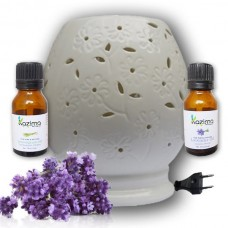 Ceramic Electric Aroma Oil Diffusers With Free Lavender & Lemongrass Essential Oil 15ml
