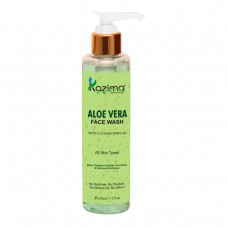 KAZIMA Aloe Vera Face Wash (210ML) - For Deep Cleanser, Soothes, Nourishes & Reduces Blemishes