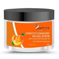 KAZIMA Apricot Diamond Facial Scrub (100g) with Licorice & Avocado Oil For Sun Dullness Removal