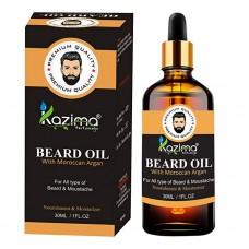 KAZIMA Beard & Moustache Oil For Men (30Ml) Ideal For Fast Growing Beard,Smooth, Moisturizer, Soft and Shine