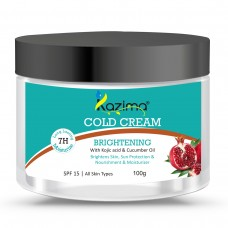 KAZIMA Brightening COLD CREAM (100g) SPF15 with Kojic Acid & Cucumber Oil For Brightens Skin, Nourishment & Moisturizer Skin, Sun Protection
