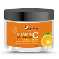 KAZIMA VITAMIN-C SKIN LIGHTENING COLD CREAM (100g) with Hyaluronic Acid & Jojoba Oil For Brightens Skin Moisturizes & Hydrates Skin